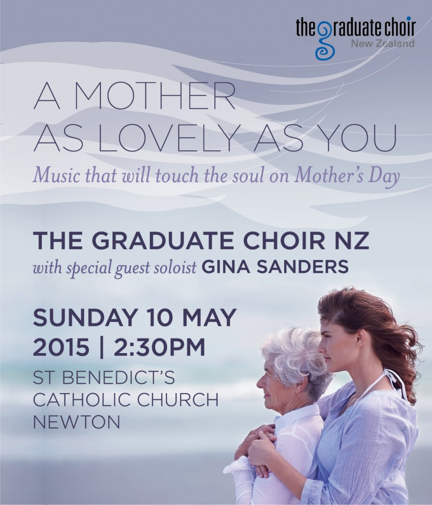 Gina singing with the Graduate Choir 2015 Mother's Day